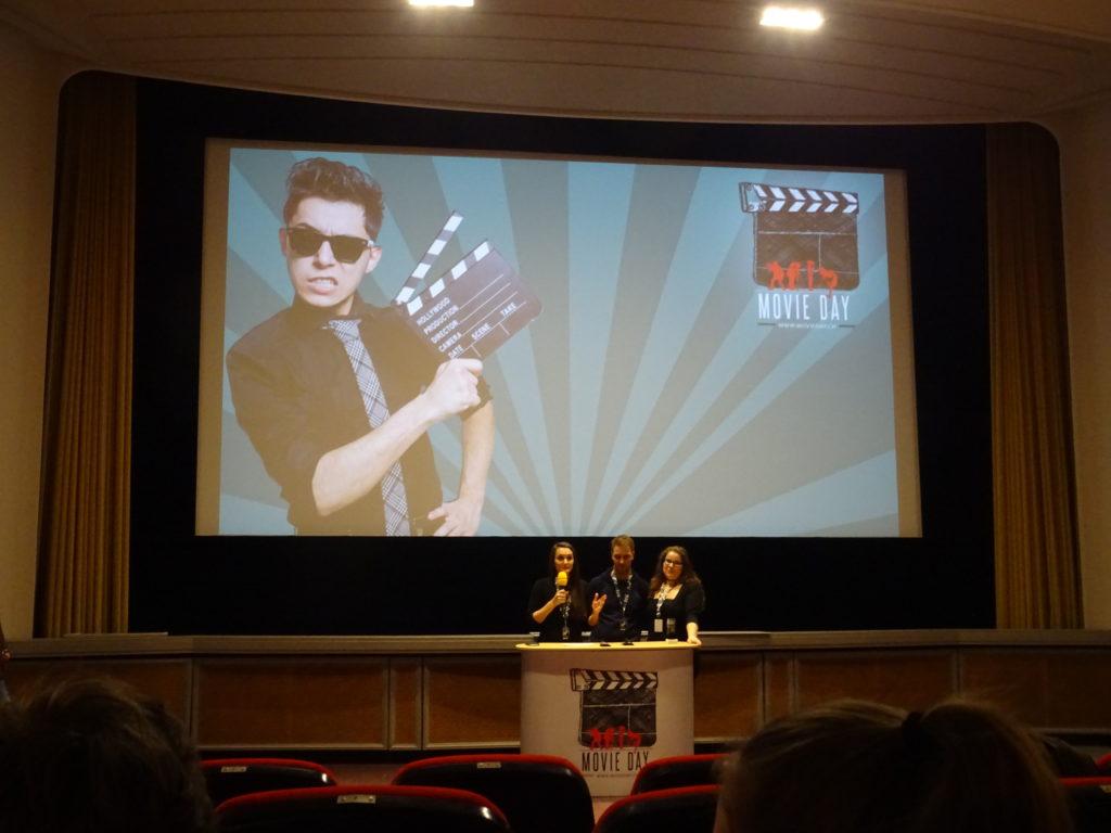 Filmfestival Movie Day Anmoderation auf der Bühne