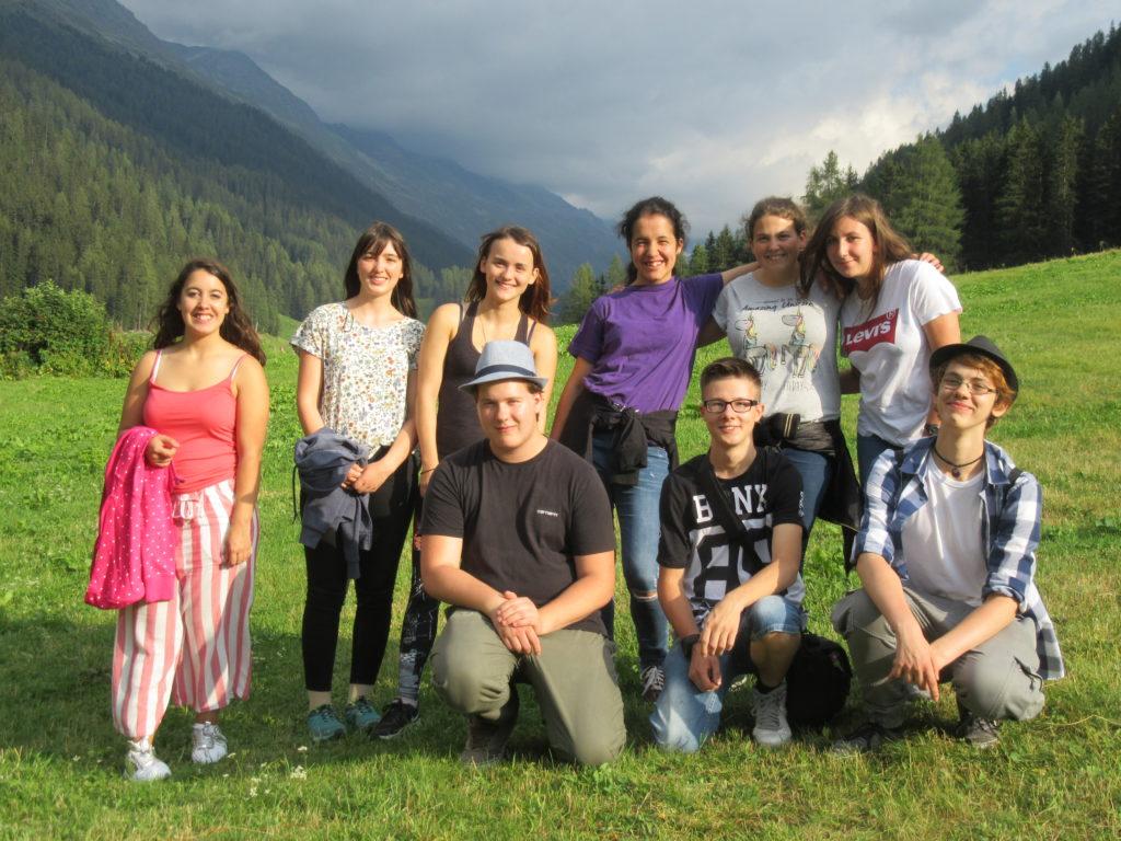 Neue Lehrlinge an ihrem ersten Tag in Davos