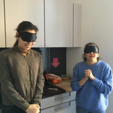Projektwoche Integration Mit Allen Sinnen Mit Augenbinden