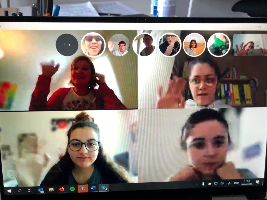 Projektwoche über Skype