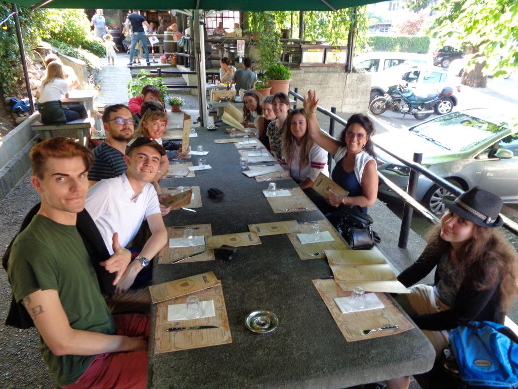 Projektwoche im Tessin: Mittagessen