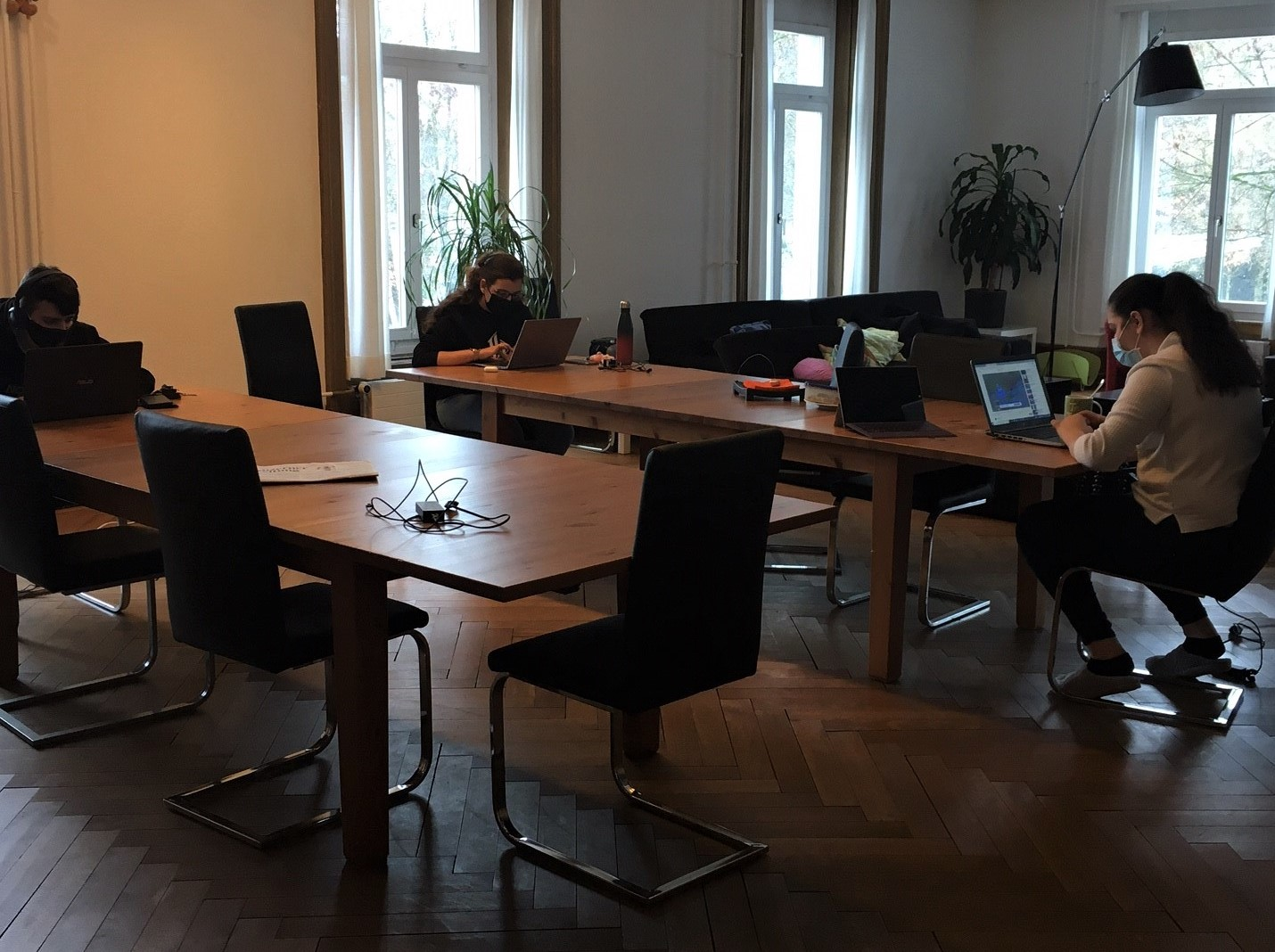 Auszubildende Am Arbeiten Am Laptop Während Der Blockwoche My Project