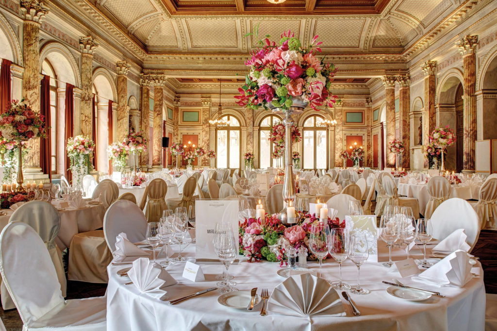 Bankett Zeugheersaal Hotel Schweizerhof Luzern